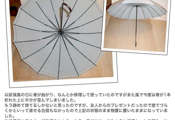 プレゼントされた傘を早まって捨ててしまわなくてよかったです(つる姫様)