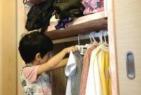 子供が自分で支度する、幼稚園・保育園グッズの収納棚をDIY【最終回】