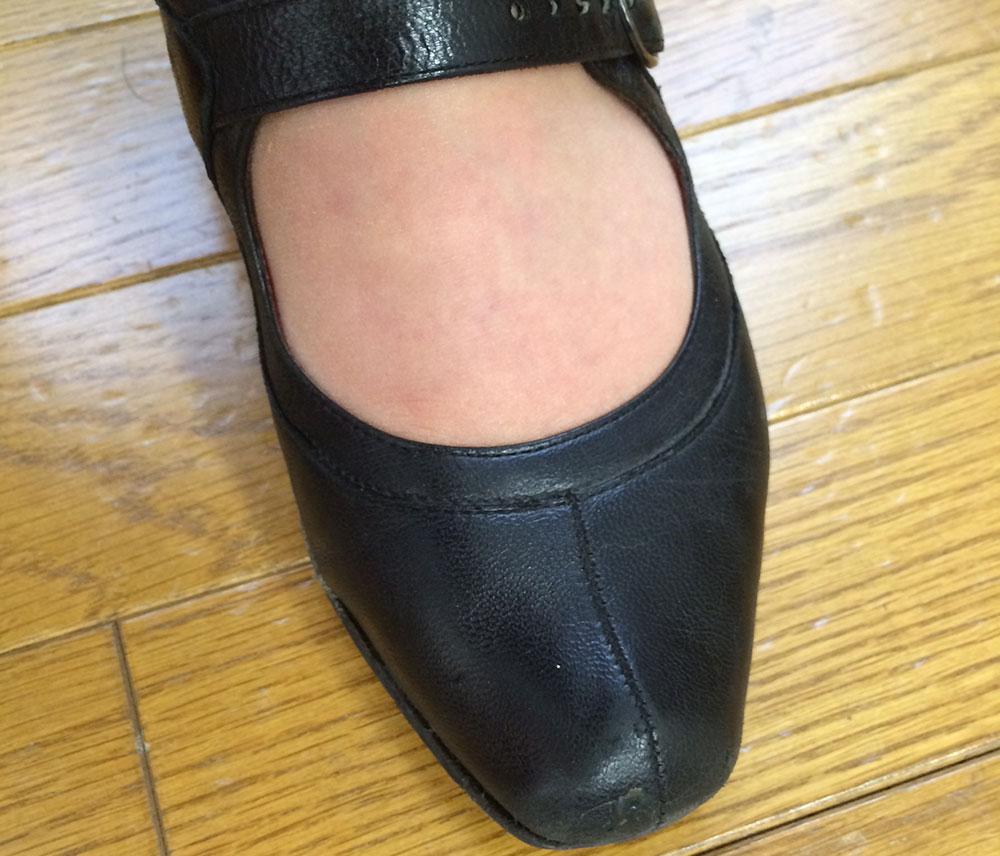 数カ月後の靴
