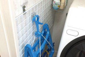洗濯機横の狭いスペースに収納が作れる、カンタン収納術