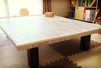 子供がテーブルの角で顔面強打!!コーナーガードで座卓をケガ防止にリメイク!
