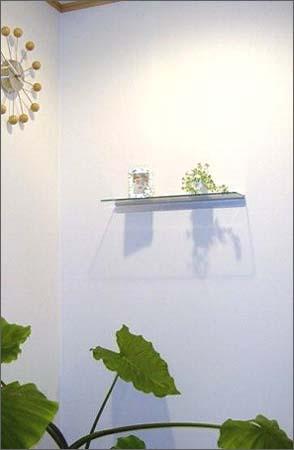 アルミレールガラス棚,収納ガラス棚,ご利用写真