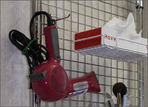 S様のお声/メッシュパネルと多機能伸縮ポール,洗面所