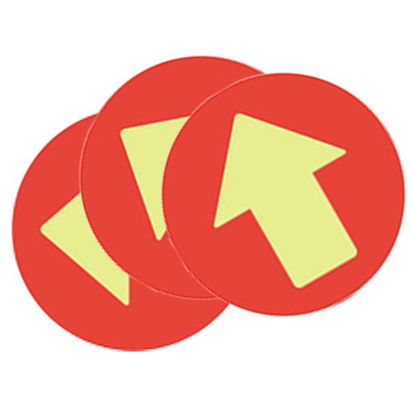 フロア誘導シール SR028〈矢印/赤〉