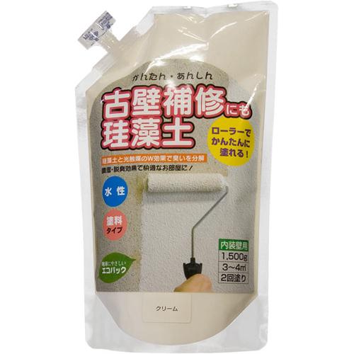 珪藻土 単品・追加用 1.5kg クリーム