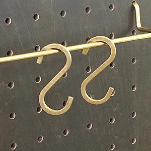 真鍮Sカン 小 ANB-718 2個入り
