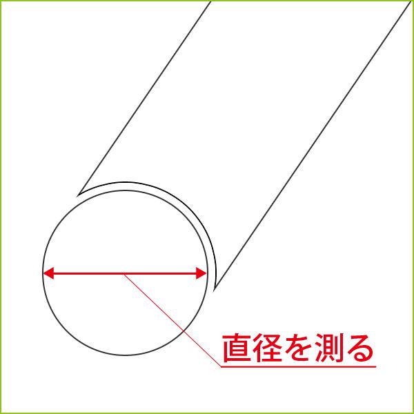 イス脚の直径を測ってください