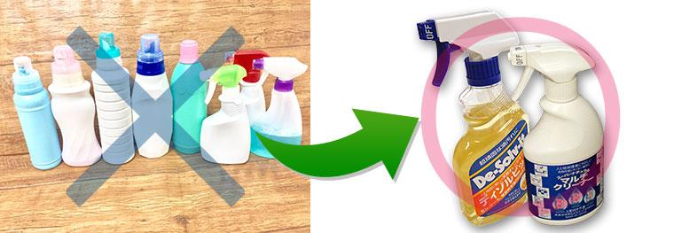 掃除に使う洗剤はこの2本