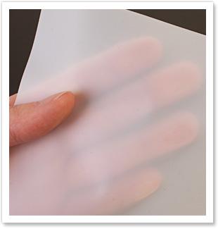 シートの透明度写真