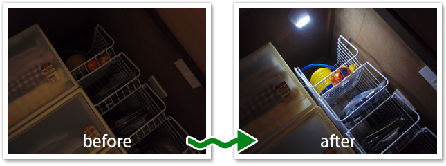 倉庫・納戸への設置画像1