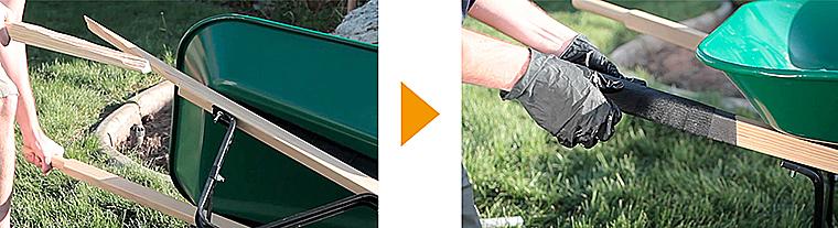 重量がかかる木材も補修ができる「Fiberfix」