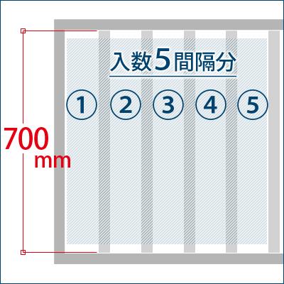 格子棒が700mm前後のもの 1箱で5間隔分の設置が可能