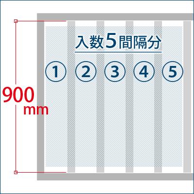 格子棒が900mm前後のもの 1箱で5間隔分の設置が可能