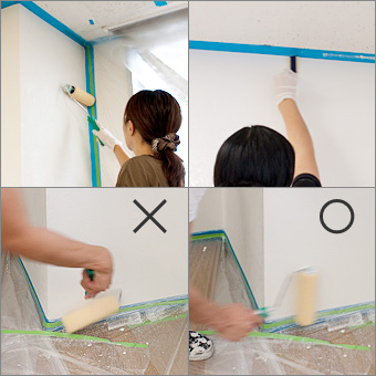 プライマーの塗り作業画像