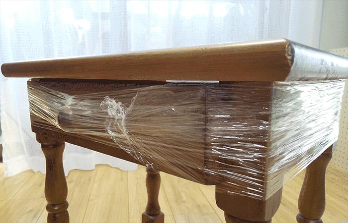 家具に巻いて引出しを固定