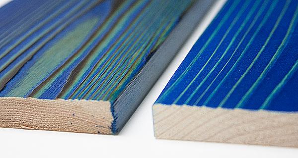 カラフルな塗装木材UROCO
