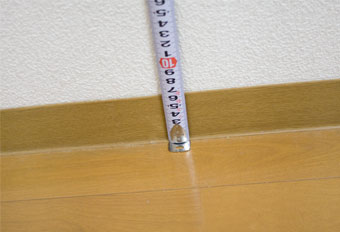 設置場所の高さを測る