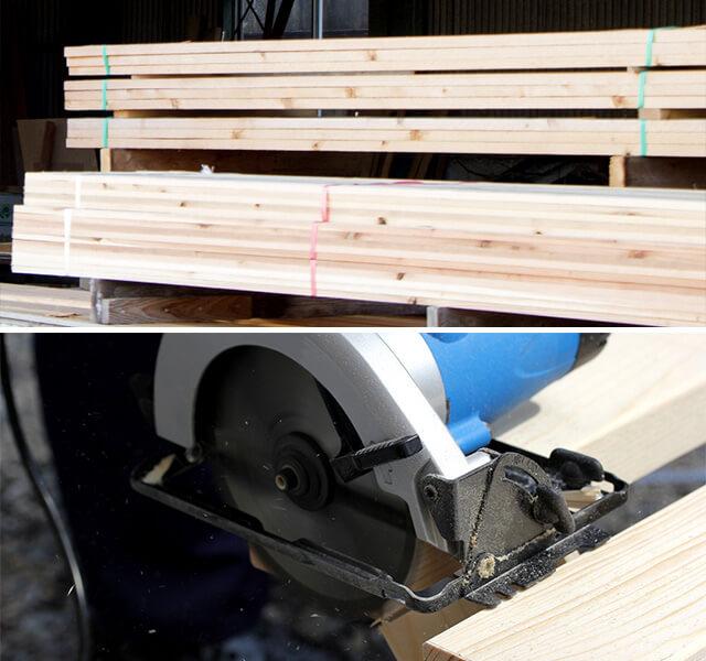ホームセンターの木材カットサービスを利用
