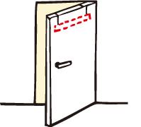 お部屋のドアに!丈夫なアルミ製パイプで安定感バッチリ!!
