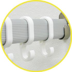 ハンガーパイプシリーズフックホワイト使用写真