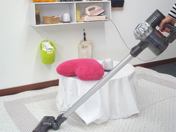 掃除がしやすい部屋に