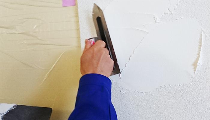 コテで塗る