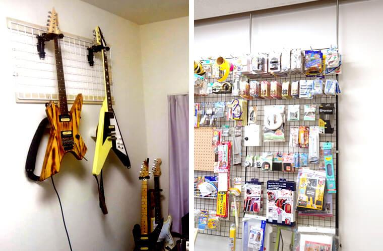 大切な楽器や、商品も大量にかけられるほど丈夫