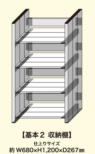 収納棚セット